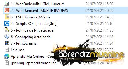 Web MueMU MuSite , Web MuDaridavils 2021, baixar website mu daridavils, como criar servidor de mu online 2021