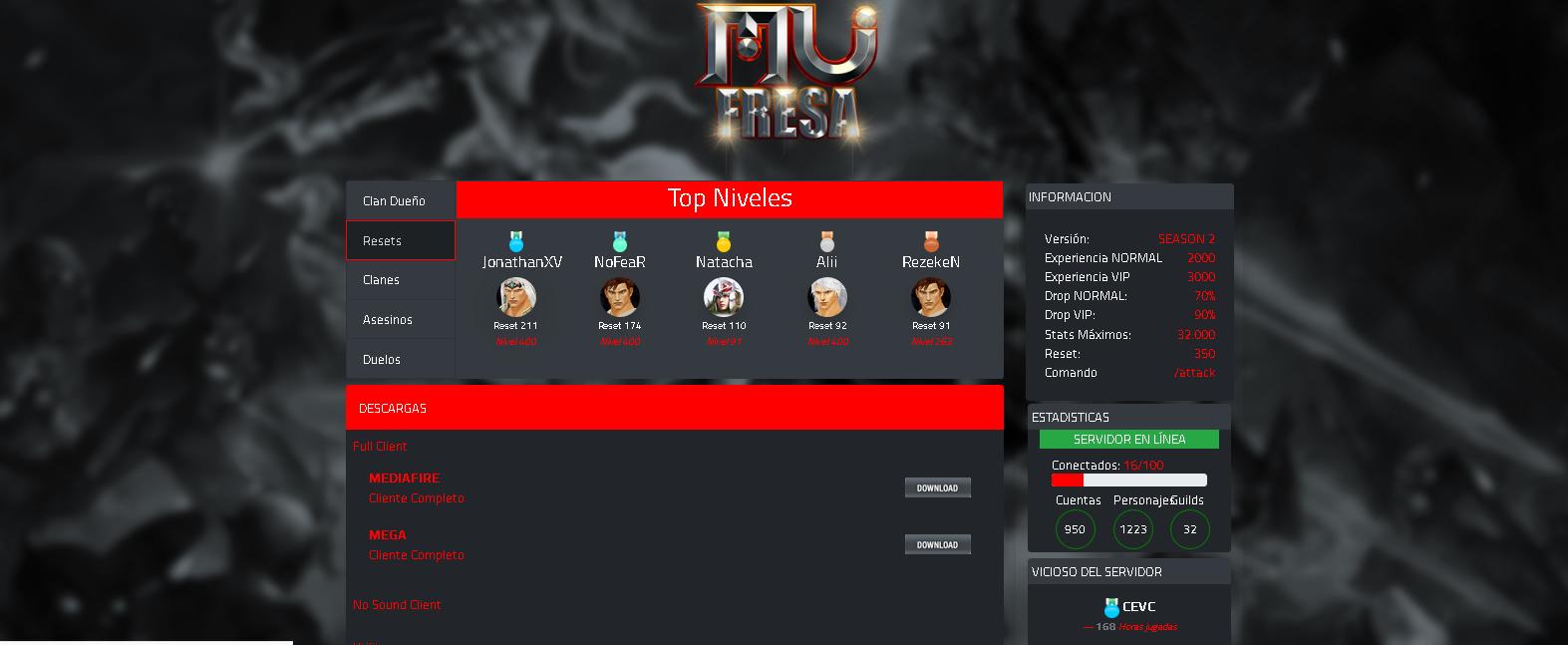 Template MuCow  para Mu Online Pirata - Plataforma MuCore 1.8 , mu site compativel com servidores Season 14 , como criar servidor de mu online pirata season 14 .