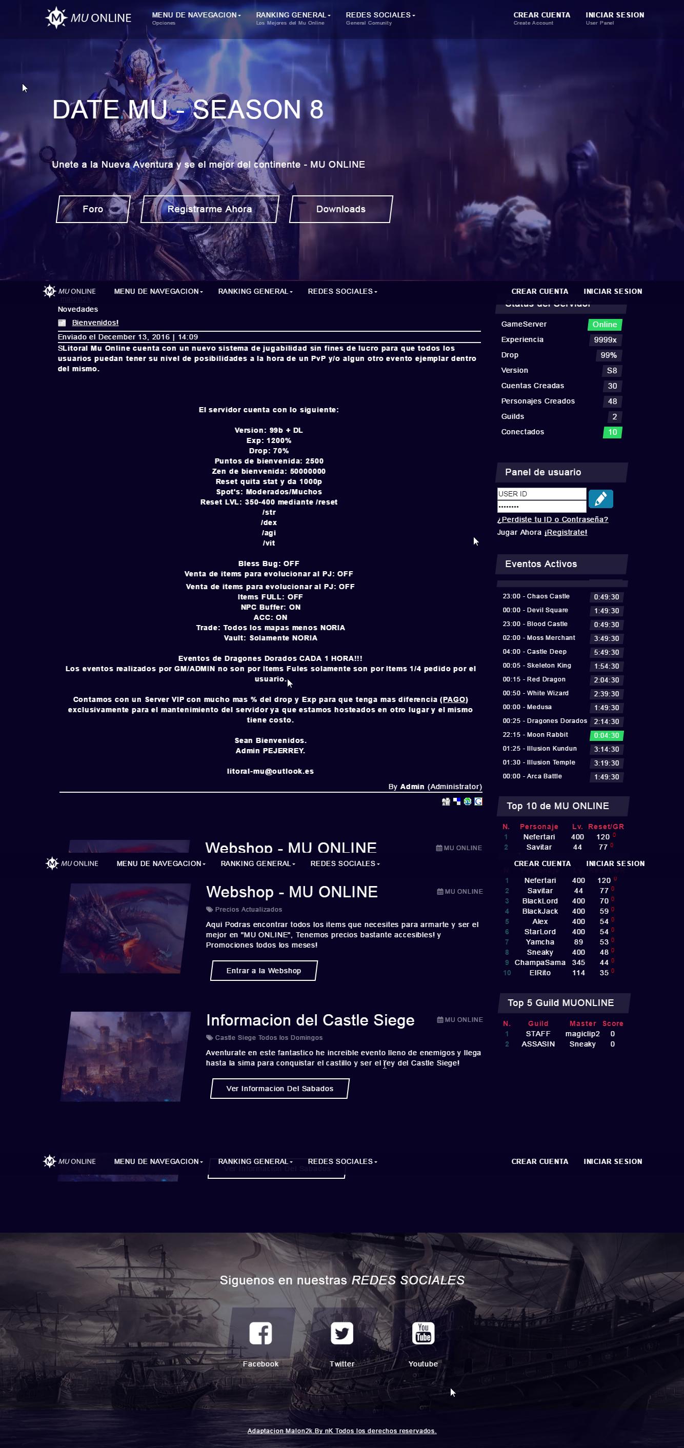 Mega Pack liberado webs mu core gratis, download link direto, web mu online atualizados, guias e tutoriais disponiveis - o melhor portal de mu online do Brasil [ Grupo AM ] - Criar mu online pirata