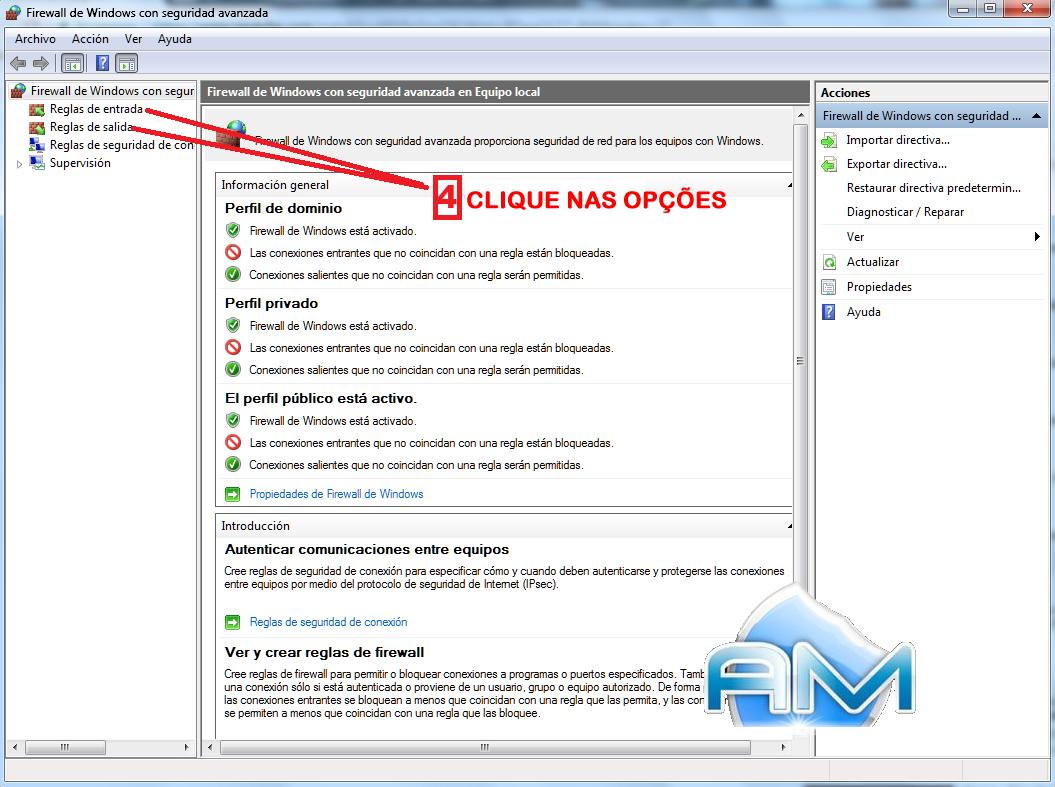Guia fácil, passo a passo, segurança de mu online, segurança otimizada, configurar firewall windows server, windows 7, windows 8, firewall otimizado