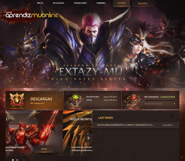 Baixar web site para Servidor de Mu Online, Web Site compativel com MuServer Season 15, WebEngine MuKoleos, baixar gratis template de mu onlline 2020