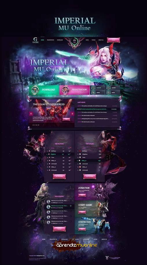 Baixar Web Engine Imperial Mu Full Design Season 16 Mu Online, Site para Mu Online, web compativel com mu online ate Season 16, web engine template 1.2.0, baixar web para mu online gratis