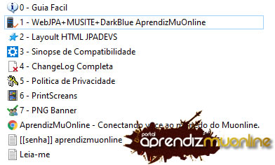 Baixar Web MUSITE 2020, MuSite JPA DarkBlue+MuSite, Web compativel com servidor de mu online Season 16, como criar servidor de mu online season 14 atualizado .