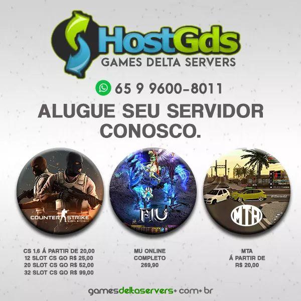 Adquira servidores de mu online, MTA e Couter Striker, Profissionais, alta performance e estabilidade, é na Games Delta